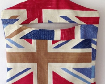 Handmade Union Jack Red Blue White Beige Peg Bag