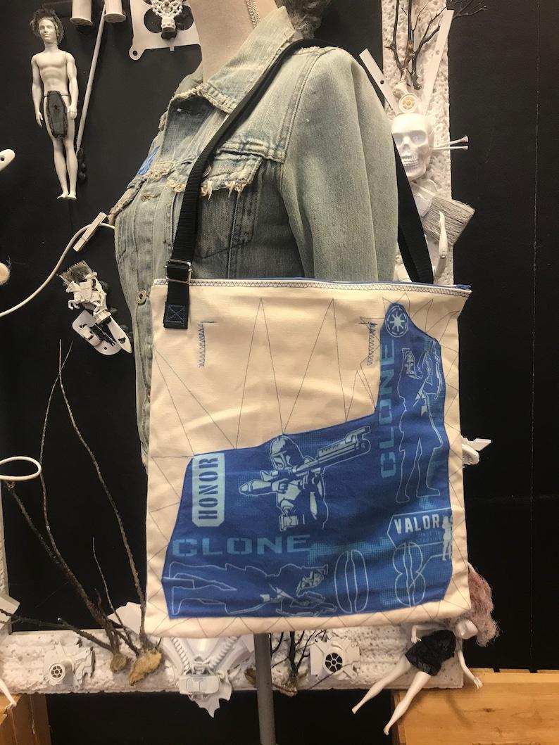 Star Wars Messenger Bag Star Wars Gift Rare Vintage The Clone Wars 2008 Fabric Cross Body Bag Geek Chic