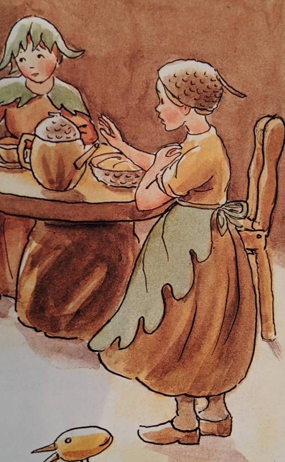 Vintage Brown Velvet Ladies Acorn Pixie Hat Beret… - image 5