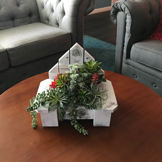 Remarkable Artificial Succulent Arrangement Table Centerpiece With Artificial Succulents Fake Succulents Potted In Handmade Wood Planter Home Decor Caraccident5 Cool Chair Designs And Ideas Caraccident5Info