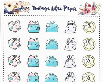 Kawaii Cute Payday Planner Stickers: Perfect for any size planner!