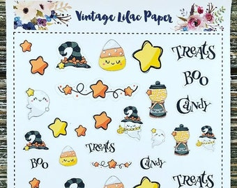 Kawaii Halloween Love Planner Stickers: Perfect for any size planner!