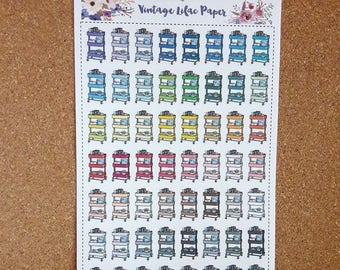 Multi Color Planner Cart Planner Stickers: Perfect for any size planner!