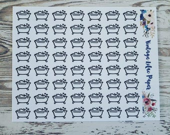 56 Doodle Bath Planner Stickers: Perfect for any size planner!