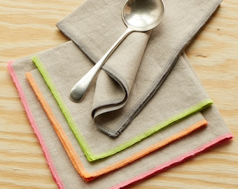 """Linen napkins. Generous size. 17"""" square. Perfect for Thanksgiving dinner or every day."""