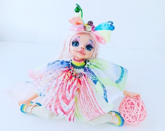 Doll butterfly, butterfly, art doll, one of a kind doll, artist doll, art work, artist dolls, art doll, collectible doll, collectible dolls