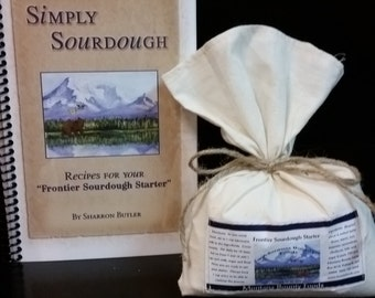 Frontier Sourdough Starter and Simply Sourdough Cookbook