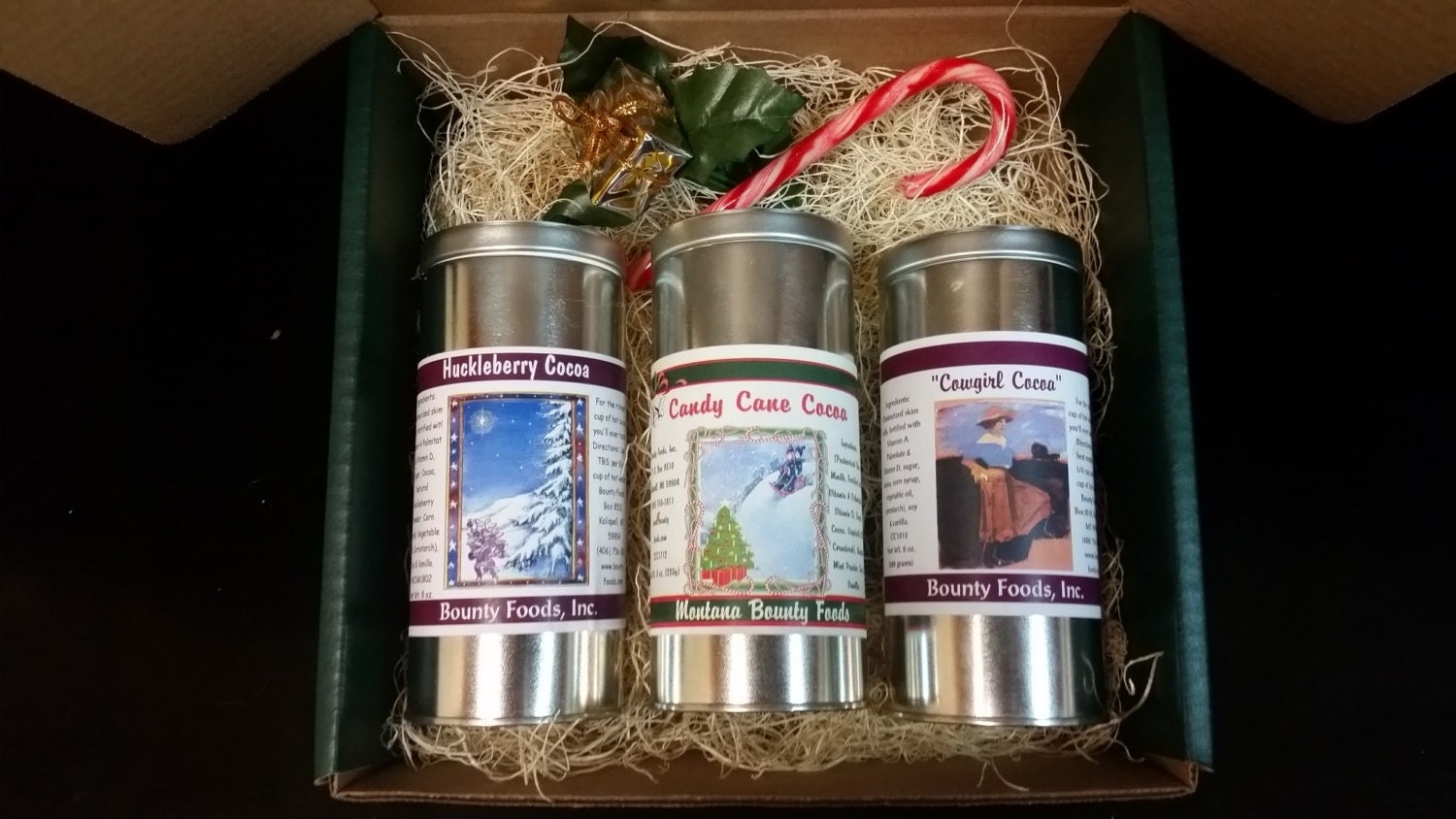 Hot cocoa mix variety pack from Montana Bounty Foods for the hot chocolate bar