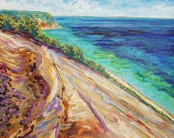Sleeping Bear Dunes, Dune Climb, Empire Michigan, Glen Haven, Glen Arbor, Dunes, Lake Michigan, Betsy ONeill, Michigan Artist