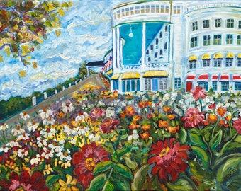 Grand Garden, Mackinac Island, Grand Hotel, Somewhere in time, Wedding, Garden art, Fine Art Print, Giclee, Canvas Print