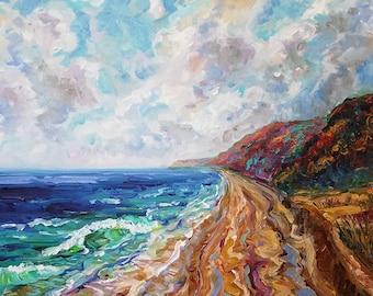 ORIGINAL Painting: Shoreline Calling, Lake Michigan, Lake Life, Beach Painting
