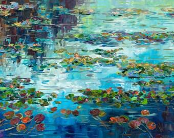 More Than A Feeling, Waterlilies, Limited Edition Prints, Lily Pond, Lake Life, Camping, Marsh, Pond, Lotus, Lake Michigan, Cottage Decor,