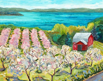 Very Cherry, Traverse City, Old Mission Peninsula, M37, Michigan Art, Orchard Blooms, Grand Traverse Bay