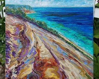 ON SALE! Enhanced canvas print of Sleeping Bear Dunes #2