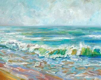 Mist Over The Lake, Lake Michigan, Lake Huron, Lake Superior, Beach, Waves, Beach Art, Fine Art Print, Giclee, Canvas Print