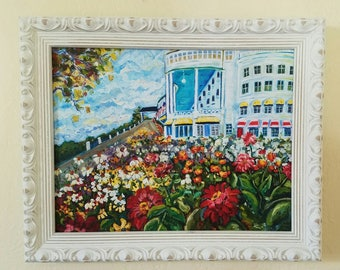 Custom Framed Reproduction Print: Grand Garden, Mackinac Island, Wedding, Garden Art, Fine Art Print, Giclee, Canvas Print
