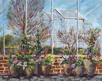 Fredrick Meijer Gardens, Spring Potted Plants, Glass Greenhouse