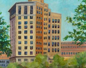 McKay Tower, Grand Rapids, Monroe Center, Grand River, Downtown, City Art