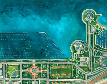 Limited Edition Prints: Chicago Waterfront, Shedd Aquarium, Buckingham Fountain, Burnham Harbor, Aerial Art