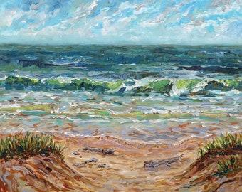 Michigan Shoreline, Lake Michigan, Summer Vacation, Beach, waves, sand, driftwood