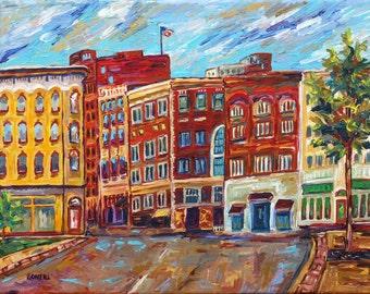 Downtown Grand Rapids, Ottawa Ave and Monroe Ctr., Downtown, Michigan Art, Betsy ONeill, Grand Rapids Art,