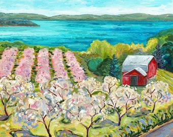 Very Cherry, Traverse City, Old Mission Peninsula, M37, Michigan Art, Orchard Blooms, Grand Traverse Bay