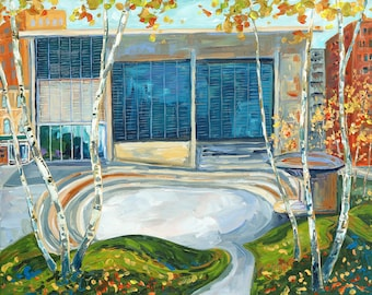 Grand Rapids Art Museum, GRAM, Grand Rapids Art, Rosa Parks Circle, Betsy ONeill, Michigan Art, fall in the city, autumn