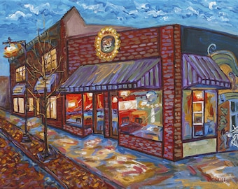Uncle Cheetah, Grand Rapids Michigan Painting, Fine Art Giclee, Betsy ONeill, Michigan Art