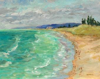 Oval Beach, Saugatuck, Limited Edition Prints, Michigan Lakeshore, Lake Michigan, West Michigan, beach art, contemporary