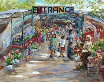 Fulton St. Farmer's Market, Grand Rapids Art, Michigan artist, Betsy ONeill