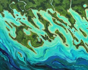 Les Cheneaux Islands: Close Up View, Marquette Island, Island #8, Coryell, Hill Island, La Salle Island, Government Island, Middle Entrance