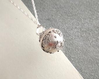 567ccbd41 Small Sterling Silver Harmony Ball Pendant