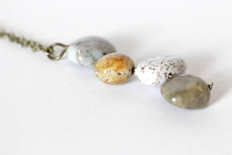 gemstone healing gemstone jewellery Ocean Jasper Necklace stone jewellery unique gifts for her