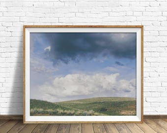 """landscape photography, clouds, nature prints, instant download printable art, printable wall art, landscape art, wall art -""""Summer Breaking"""""""