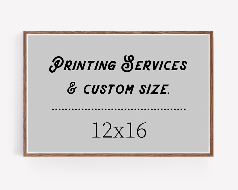 12x16 art print  custom printing services image 0