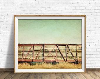 "train photography, train wall art, rustic, instant download, printable art, instant download art, large art, large wall art - ""Cattle Car"""
