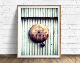 "photography, large art, large wall art, printable art, instant download art, digital download art, wall art, industrial, rustic - ""Alarm"""