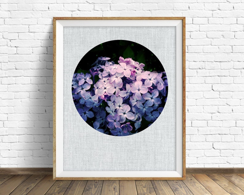 botanical wall art lilacs large art large wall art instant image 0
