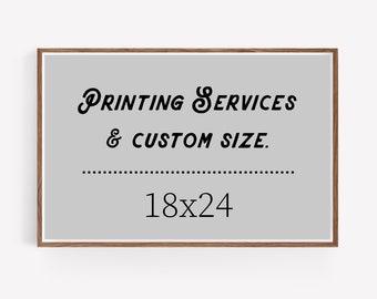 18x24 art print - custom printing services