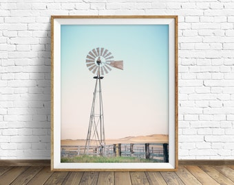 """windmill, photography, landscape, instant download printable art, large art, large wall art, printable wall art, rustic decor - """"Rotation"""""""