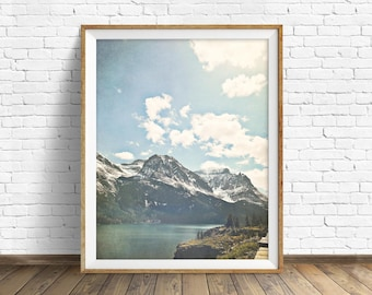 "mountain landscape, instant download art prints, printable wall art, downloadable wall art, large art, wall art prints - ""Saint Mary Lake"""
