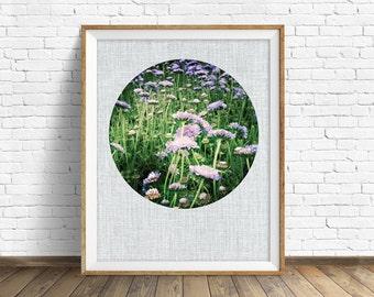 "flower photography, purple flowers, lavender, large art, large wall art, printable art, instant download printable art, nature - ""Bloom"""