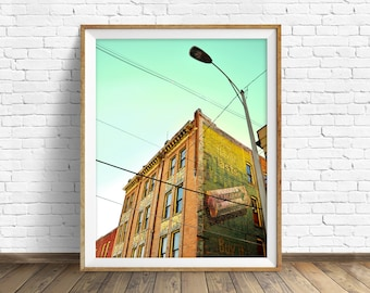 """architecture, large art, large wall art, instant download, instant download printable art, photography, print, wall art - """"Ghost Ad Alley"""""""
