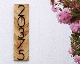House Numbers Vertical, House Number Yard Sign, House Number Plaque, House Numbers, House Numbers Sign, House Numbers Modern