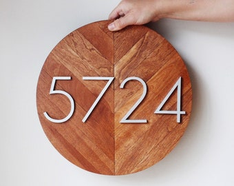 Housewarming Gift | House Numbers | House Number Sign | House Number Sign | Modern House Number | Address Plaque | Number Sign |