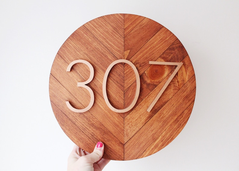 House Numbers House Number Plaque House Warming Gift House AMERICAN WALNUT