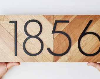 Housewarming Gift, Address Plaque, House Numbers, New Home Gift, House Number Plaque, Address Sign