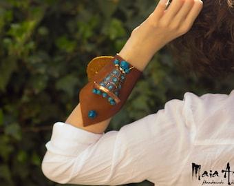 bracelet, polymer clay, strict, brown
