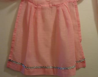 Pink Sheer Organza Apron from the Mid-Century