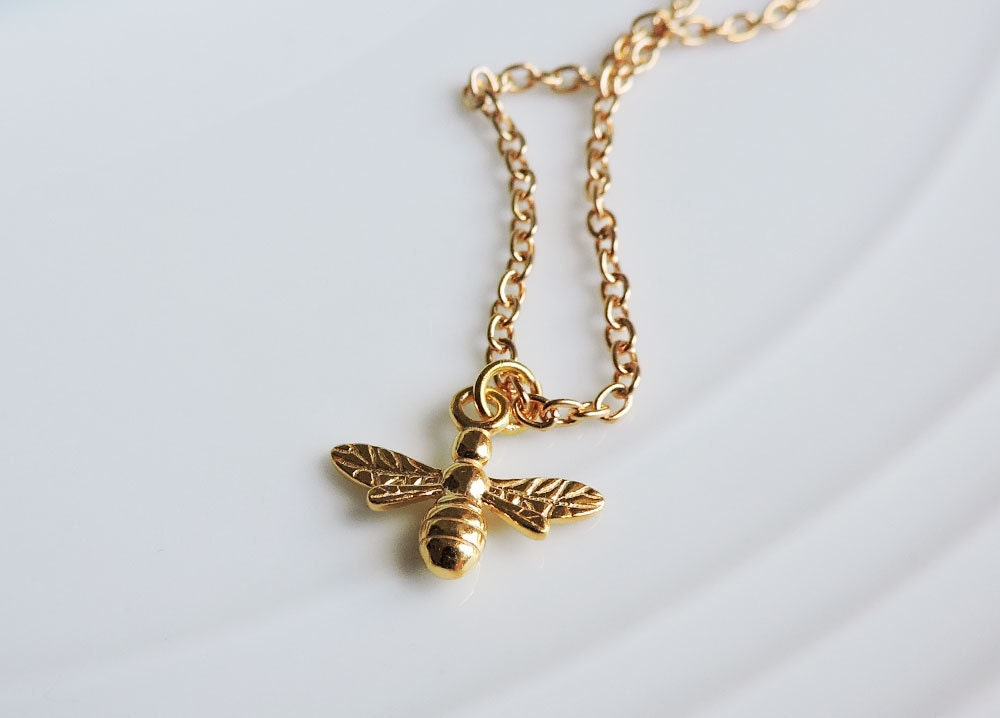 24ct gold bee pendant necklace bumble bee busy bee flying insect 24ct gold bee pendant necklace bumble bee busy bee flying insect gold necklace charm 3d bee charm little worker bee nature gold charm aloadofball Gallery